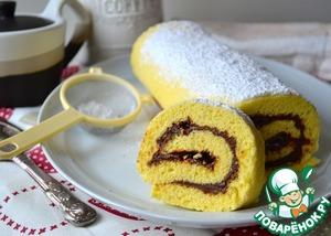 Рецепт Бисквитный рулет к чаю