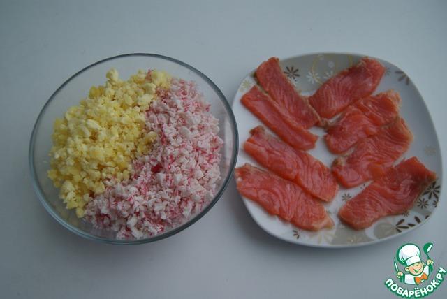 Закуски из малосольной рыбы