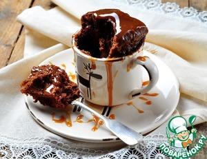 Рецепт Вкуснейший шоколадный кекс в СВЧ за 2 минуты