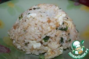 Рецепт Жареный рис с сушеными креветками