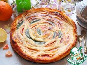 Рецепт Творожно-мармеладный пирог из теста катаифи