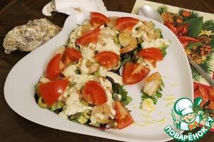 Рецепт Салатный микс с креветками и овощами