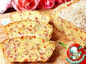 Рецепт Закусочный кекс с салями и болгарским перцем