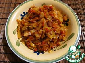 Рецепт Капуста со шкварками и тмином