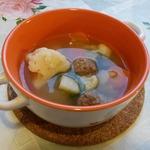 Лёгкий суп с фрикадельками