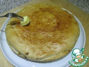 Рецепт Закусочный пирог с куриной печенью