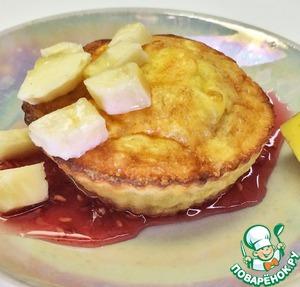 Рецепт Овсяные кексы с творогом и бананом