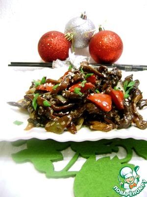 Рецепт Грибной салат на китайский лад