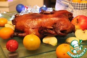 Рецепт Новогодняя утка в пикантном маринаде