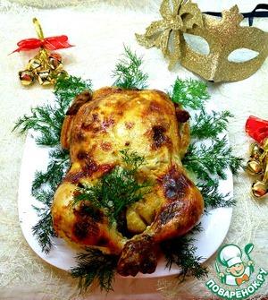 Рецепт Курица, фаршированная под кожу