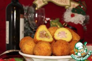 Рецепт Аранчини с ветчиной и сыром