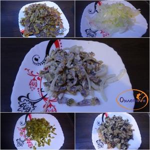 "Рецепт Салат с куриными желудками ""Ветер перемен"""