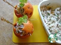 """Новогодние """"шары"""" с салатом ингредиенты"""