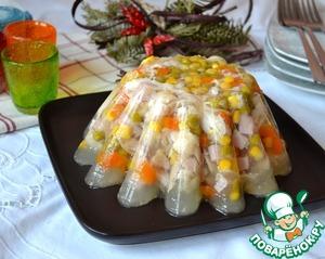 Рецепт Аспик из курицы с овощами
