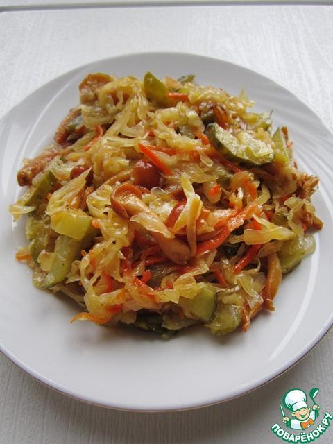 Вторые блюда из квашеной капусты рецепты