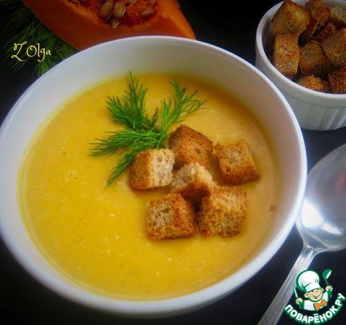 Рецепт супа из сыра с сухариками