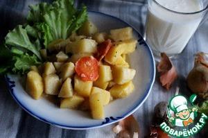 Рецепт Тушеный картофель в молоке в мультиварке