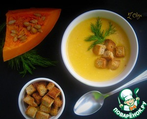 Soup with pumpkin and cream cheese