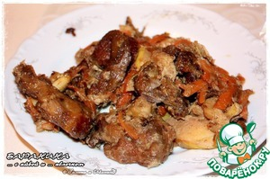Рецепт Барашкины рёбрышки с айвой и яблочком
