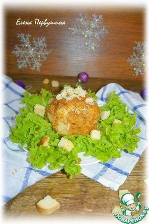 Рецепт Цветная капуста в остром кляре под сыром