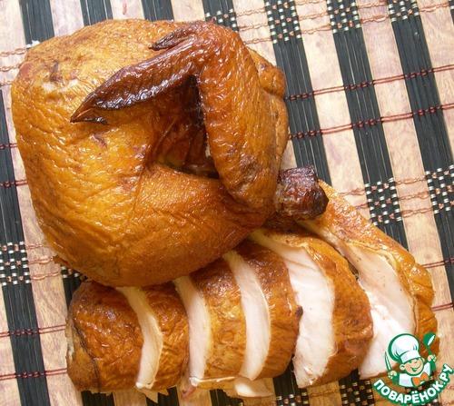 курица варено копченая в коптильне рецепт
