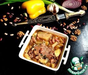 Рецепт Грузинский фасолевый суп с кроликом