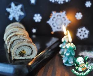Рецепт Рулетики из форели в японском стиле