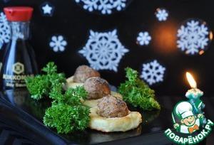 Рецепт Картофельные гнёзда с фрикадельками