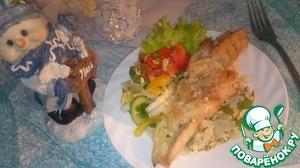 Рецепт Косички рыбные под соусом