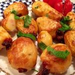 Запечённый картофель с беконом и чесноком