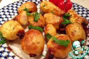 Рецепт Запечённый картофель с беконом и чесноком
