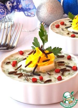 Рецепт Йогуртовое заливное с копченой форелью