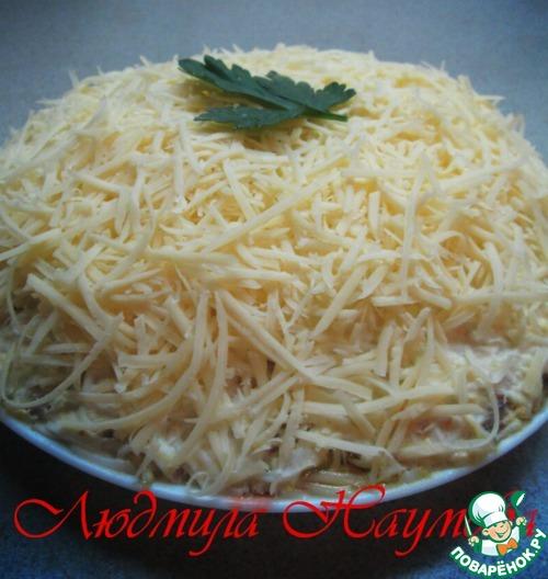 Салат Нежность классический рецепт приготовления