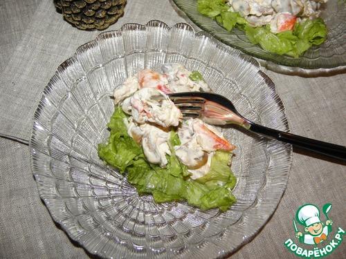 Салат эдем с крабовыми палочками рецепт