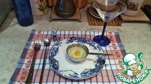Рецепт Жульен с кальмарами под яичницей