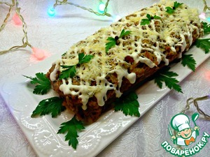 Рецепт Куриный рулет с сыром и орехами