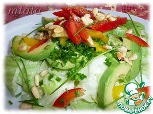 Рецепт Зеленый салат с болгарским перцем