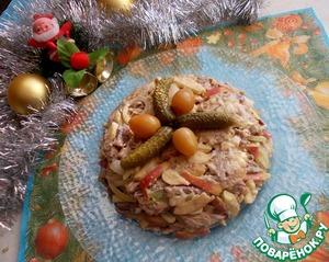 Рецепт Салат с говядиной и яблоком