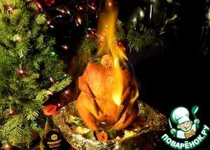 Рецепт Курица фламбе