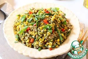 Рецепт Салат из кукурузы с песто из базилика