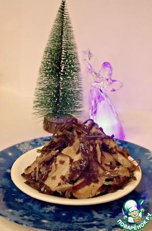 Рецепт Морская капуста, тушенная с мясом
