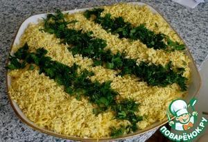 Рецепт Салат-коктейль с ветчиной и сыром