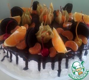 Рецепт Глазурь для подтёков на торте