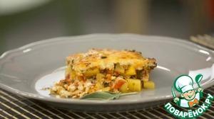 Рецепт Мусака с курицей, перцем и грибами