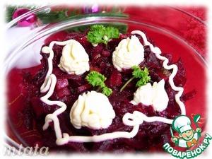 Рецепт Салат из свеклы и маринованных огурцов