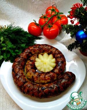 Рецепт Куриная домашняя колбаса с гречкой и грибами