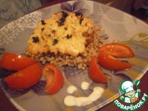 Рецепт Гречневая каша с курочкой и румяной сырной корочкой