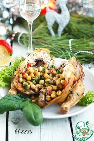 Рецепт Цыпленок фаршированный нутом