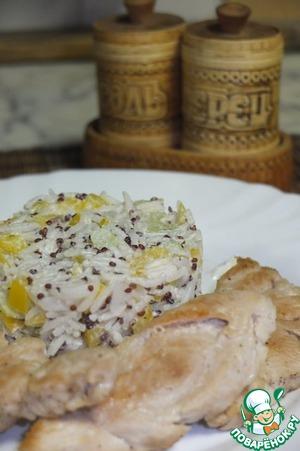 Рецепт Салат с индейкой и рисом