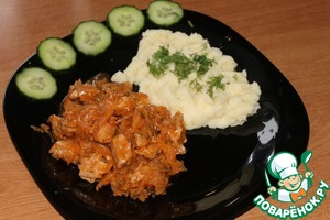 Рецепт Бигус со свининой и картофельным пюре